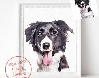 ff84c6a54cba9 Custom Dog Portrait Watercolor