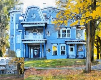 Custom House Illustration, Custom House Painting, Custom House Portrait