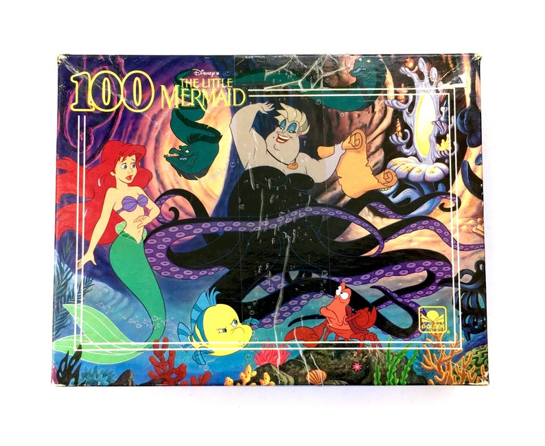 b1cee3e6012 Vintage Disney The Little Mermaid Jigsaw Puzzle Ariel Ursula
