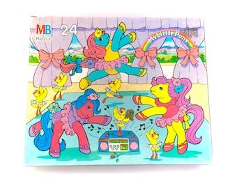 G1 My Little Pony Ballerina Jigsaw Puzzle 1991 Milton Bradley Dance n Prance Ponies Fairy Kei Rainbow MLP Bronies Brony 80s Vintage Original