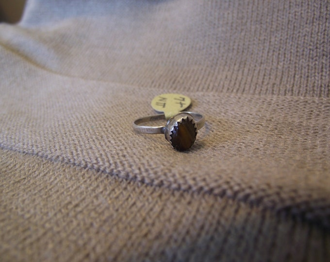 Tigers Eye Ring Sz 7plus
