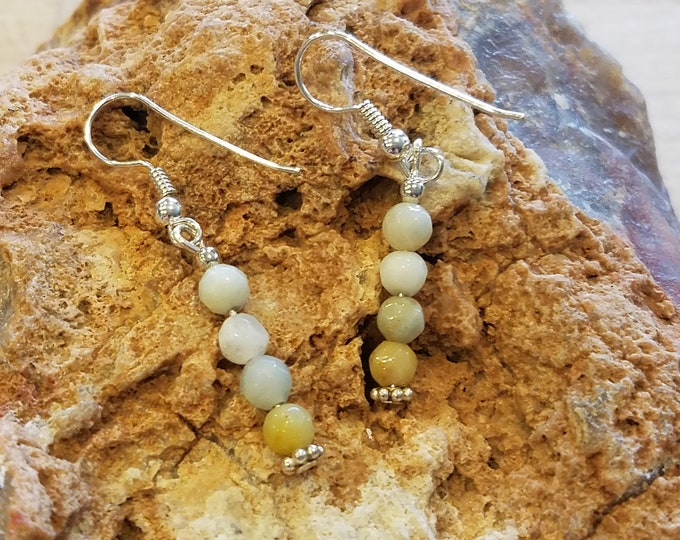 Sterling Silver and agate earrings pierced