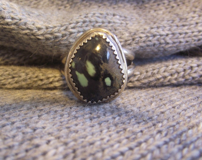 Sterling Silver Multi colored Agate ring Size 10