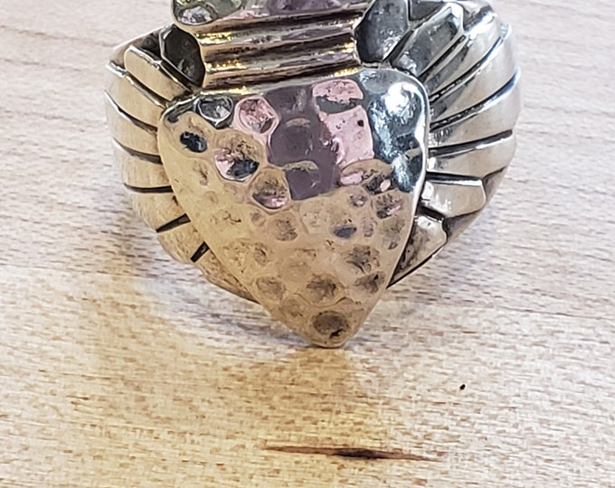 Hammered arrowhead ring Sterling Silver size 8
