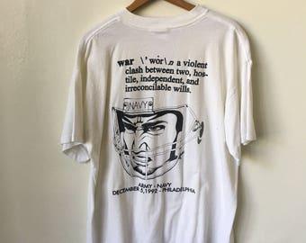 d3c256d3 1992 WAR Army Navy Football December 5th 1990's 90's Philadelphia Vintage T  Shirt