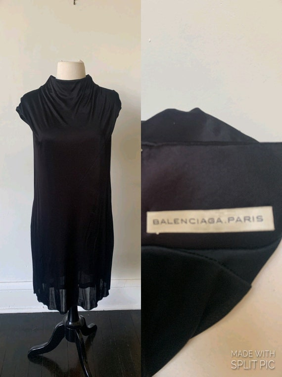 Vintage Balenciaga Black Dress Vintage Gothic Coll