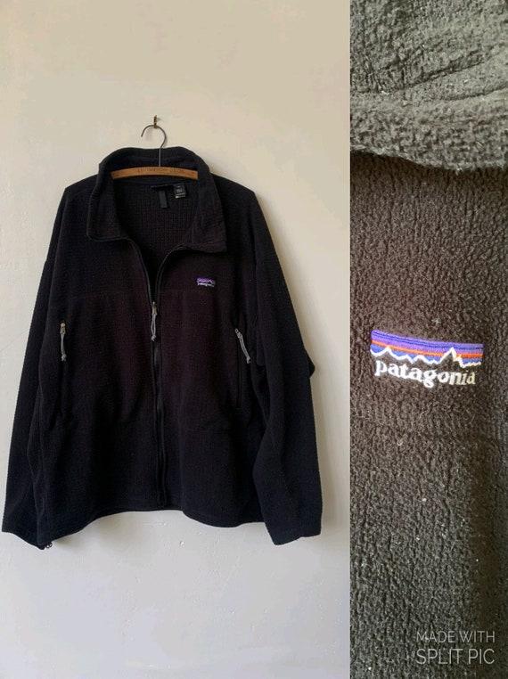 Vintage Patagonia Black Fleece Jacket 1990's Men's