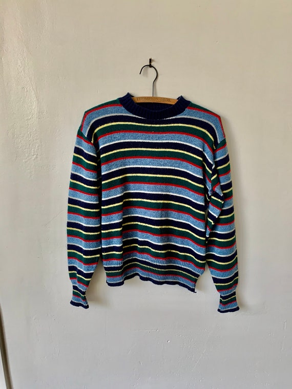 Vintage 1970's Striped Sweater 70's Striped Jumper
