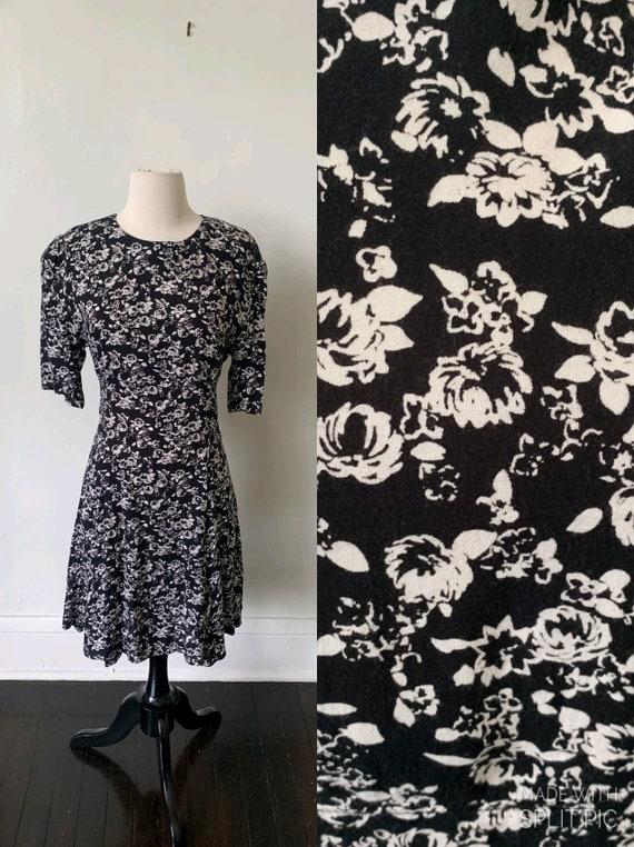 Vintage Babydoll Floral Dress 1990's Express Babyd