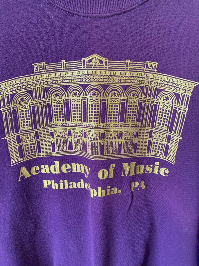 Vintage Academy of Music Philadelphia Pennsylvania 1990's 90's Purple and  Gold Music Academy Sweatshirt
