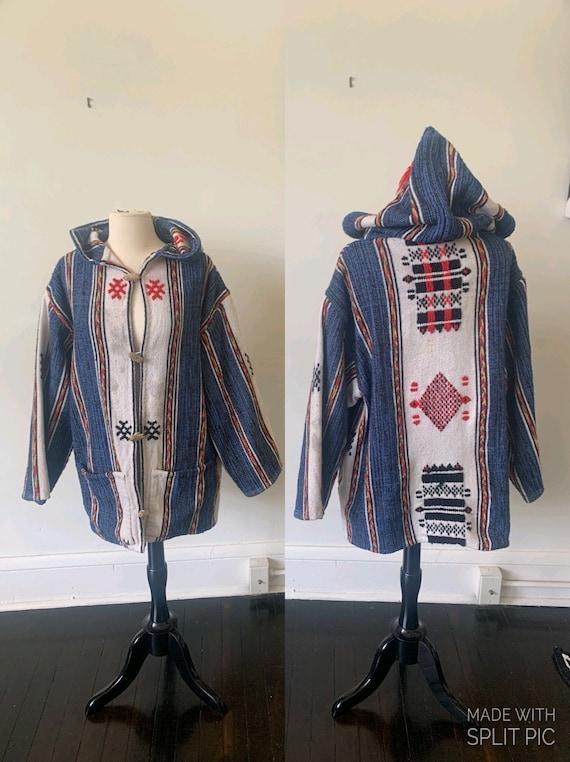 Vintage Boho Mexican Tapestry Jacket Vintage Mexic