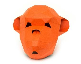 chimp mask etsy