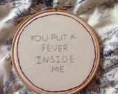 Items similar to Halsey / Haunting Lyrics 6 inch Embroidery