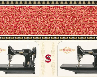 4e64bd03629 17845 SINGER FEATHERWEIGHT Sewing Machine PANEL Fabric Sewing with Singer  by Robert Kaufman Novelty Quilt Shop Quality 100% Cotton - 23x44