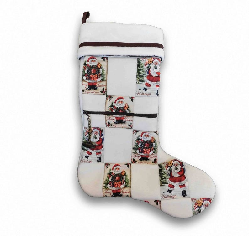 Zippered Christmas Stocking image 0