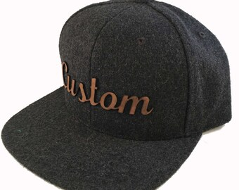 4e51130fe362f Wool and leather hat