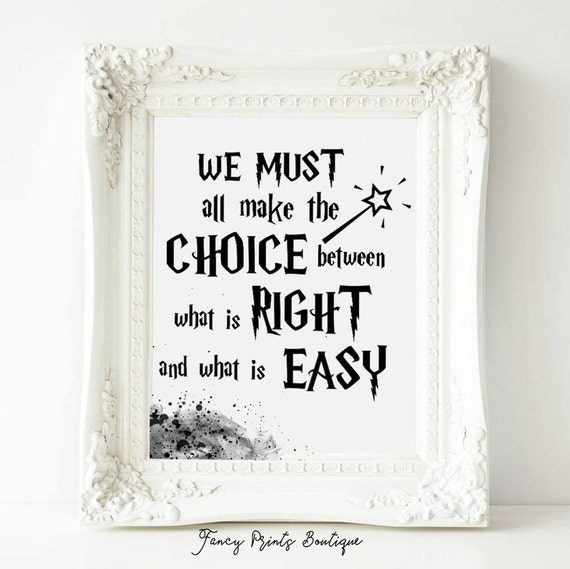 Printable Albus Dumbledore Quote Harry Potter QuotesWe Must Etsy Cool Harry Potter Quotes