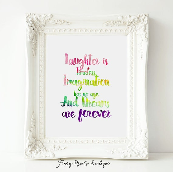 Disney Quote Kids Prints Printable Quotes Laughter Is Etsy