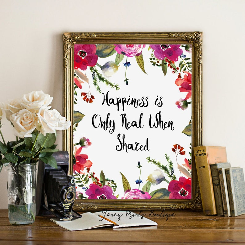 Happiness Is Only Real When Shared Christopher Mccandless Etsy