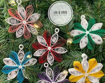 Christmas ornaments   paper Christmas ornaments   paper ornaments   snowflake ornaments   quilling paper  