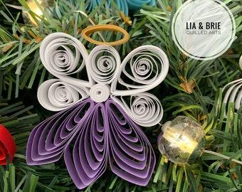 Christmas ornament   paper Christmas ornament   angel ornament   quilling ornament   paper angel   quilled angel