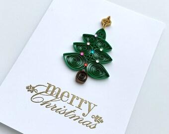 Christmas card   Merry Christmas   Christmas gift   holiday card   quilled Christmas card   quilling Christmas card   Christmas gift