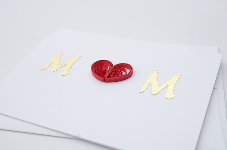 card for her love card card for mom mom card quilled card paper art hand made card handmade card unique card quilling card