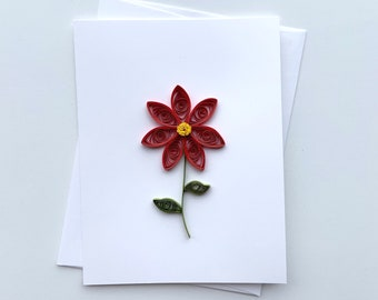 daisy card   greeting card   quilled card   paper quilling art   handmade greeting card   thank you card   birthday card   flower card  