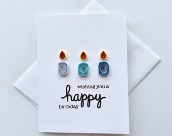 paper quilled card   birthday card   handmade card   blank card   special card