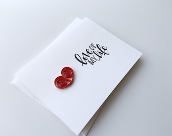 heart card   anniversary card   valentines card   I love you card   wedding card   engagement card   just because card  Valentine's Day card
