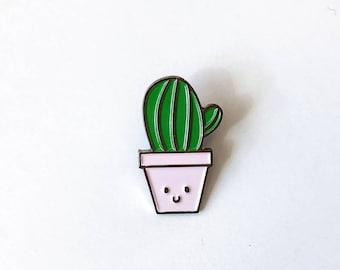 Cactus Soft Enamel Pin   Lapel Pin   Cactus Pin   Enamel Pins   Plant Pin   Metal Plated Lapel Pin   Pin Badge   Anthropomorphic Pin