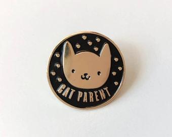 Cat Parent Soft Enamel Pin   Lapel Pin   Cat Pin   Enamel Pins   Animal Pin   Metal Plated Lapel Pin   Pin Badge   Pet Pin   Cat Pin Badge