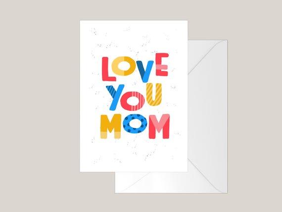 Tarjetas para imprimir día de la madre para niños Tarjeta de | Etsy