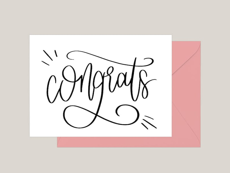 image relating to Congratulations Card Printable known as Printable Congratulations Card Greeting Card Engagement Card  Marriage Congratulations Card A2 Card Commencement Card