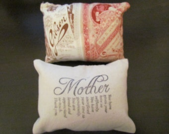 Mothers Day Quote mini pillow Display pillow