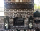 Fireplace Mantel Rustic Distressed Wood, floating shelf Custom Made to Order, U pick 3ft, 5ft, 6ft, 7ft, 8ft, 9ft, 10ft, or Custom Size