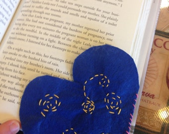 Homemade felt bookmark
