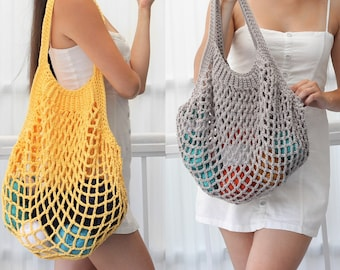 Crochet bag pattern-LILLE French bag pattern PDF-Crochet pattern summer bag-Beach bag-Crochet french market bag-Crochet market tote- 4 sizes