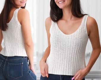 Crochet pattern- ZOE Crochet top pattern- Women crochet pattern- Crop top pattern- Beach cover-up -Festival top- Boho lace top- sizes XS-XXL