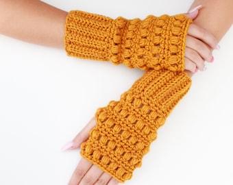 Crochet pattern-HAZEL Crochet fingerless gloves pattern-Women crochet patterns-Wrist Warmers-Fingerless Mittens Pattern Mitt PDF Sizes S-M-L