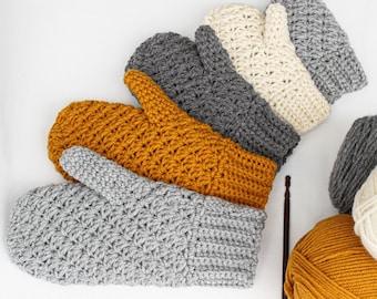Crochet pattern-WILLOW -5 sizes Crochet mittens pattern- crochet mitten pattern-Toddler crochet mittens- Child crochet Mitten- Women mittens