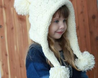 Knitting pattern, Patron de tricot, english   french, Braelynn - Easy  Earflap, Cache-oreilles, Pixie Hat Bonnet (Small- Medium-Large sizes) 56175273122
