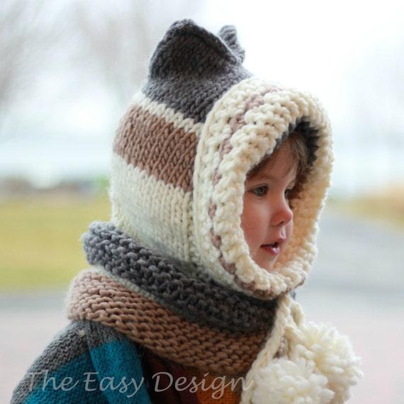 Knitting Pattern Knit Hat Patron Tricot Karin Kitty Cat Etsy