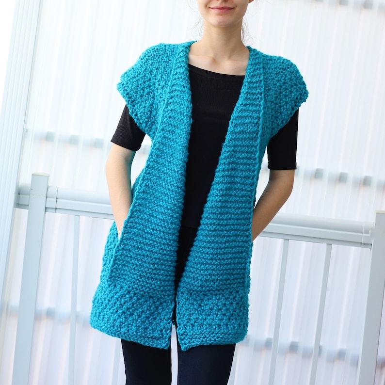 Knit Pattern Patron Tricot Daria Knit Vest Pdf Women Knit Etsy