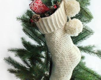 Crochet Pattern - TREASURE Christmas Stocking -PDF Crochet pattern - Christmas Stocking Crochet Pattern -Easy pattern for Stocking Christmas
