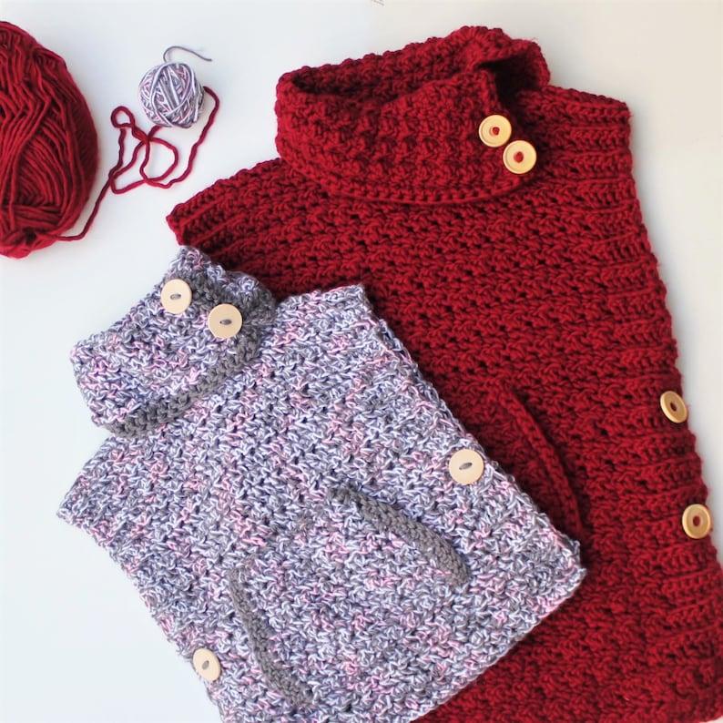 Crochet pattern Patron crochet LYANA Crochet Poncho pattern image 6