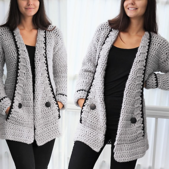 Crochet pattern Patron crochet-Mia Crochet cardigan PDF   Etsy