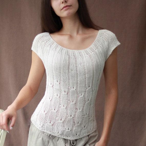 Knitting Pattern Patron Tricot Pdf Aubrey Top Sleeveless Etsy