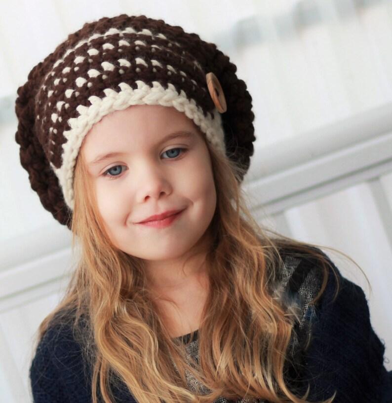 882c493ab39 Crochet pattern Patron de crochet Elise Slouchy Beanie Hat