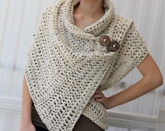 Crochet pattern, Women crochet pattern, Crochet wrap pattern, Patron de crochet, Azali Crochet Wrap PDF, Crochet Poncho PDF, Crochet Scarf